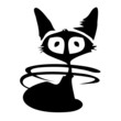 Постер, плакат: Cat long tail kitty tatoo black icon symbol siluet