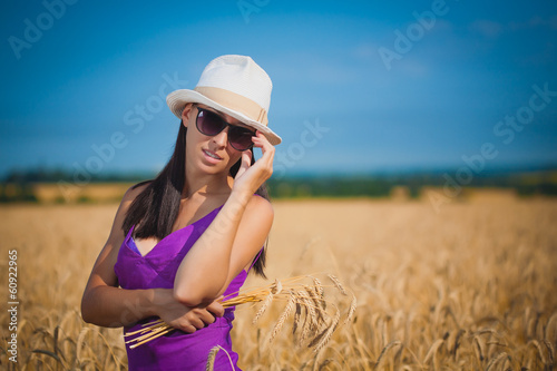 pretty girl in a wheat field