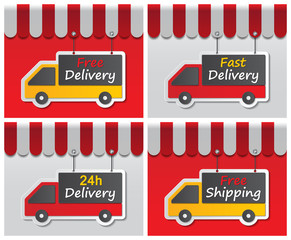 shopfront delivery signs