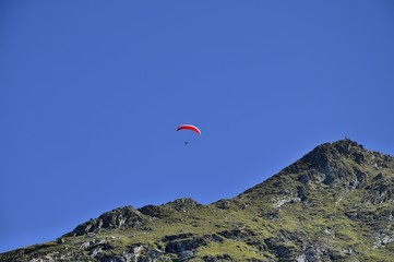 paraglider at the european alps