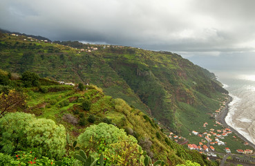 Green island of Madeira.