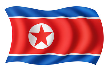 North Korea flag - North Korean flag