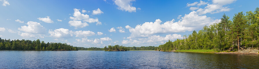 Summer lake panorama