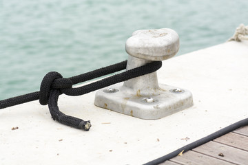 Bollard on the dock