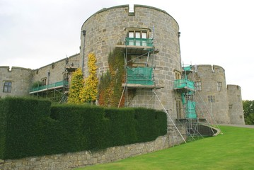 chirk castle under renovation