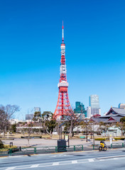 Tokyo Tower with the blue sky