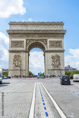 The arc of triumpf in Paris