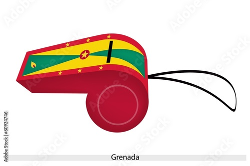 A Red, Yellow and Green Whistle of Grenada