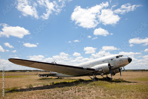 Old Douglas DC-3 airplane.