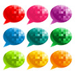 Set of colorful speech bubble icons