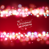 Christmas background with bokeh lights.