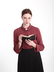 Young lady vicar