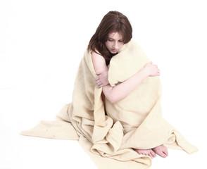 Teenage girl disaster survivor
