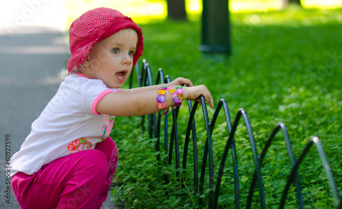 Cute Little Girl in Park, Outdoor