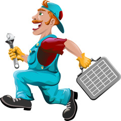 The hurrying plumber