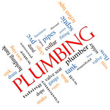 Plumbing Word Cloud Concept angled