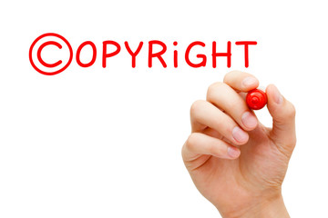 Copyright Concept Red Marker
