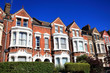 canvas print picture - Victorian terraced houses