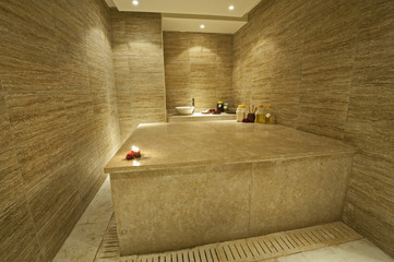 Private turkish massage room in health spa