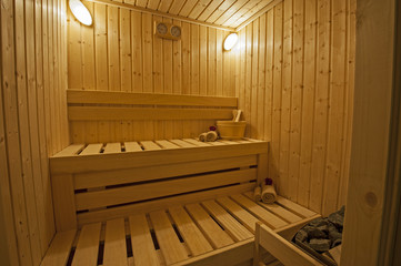 Private sauna in a health spa