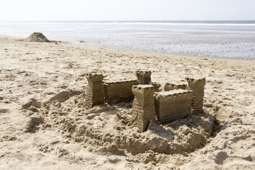 Sand Castle on the Beach, North Sea, Netherlands