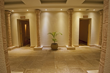Interior of a luxury health spa