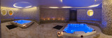 Wet area with jacuzzis in health spa