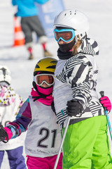Girls on the ski competition