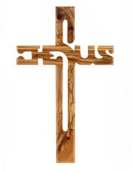 Olive Wood Christian Cross