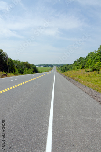 TransCanada highway under blue sky