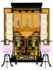 仏壇と提灯