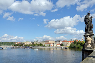 bridge on the Vltava river