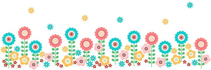 北欧風花柄横長パターン