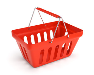 Red shop basket