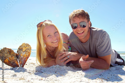 Happy Couple at Beach