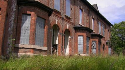 Terrace of abandoned social houses