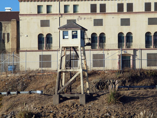 Tall Lookout Tower at San Quentin State Prison California