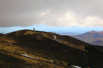Scoria cones near Tolbachinskiy volcano.