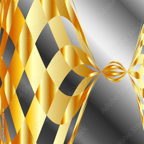 High grade gold metal background