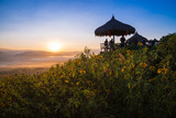 Sunrise at Yun Lai Viewpoint,Pai Chiangmai Thailand