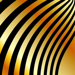High grade gold metal background with black swirls