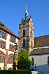 Clock Tower of St.Martin church in Basel, Switzerland