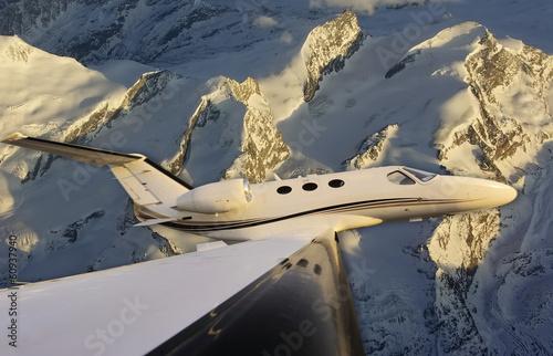 Fototapeta Flying over the glaciers