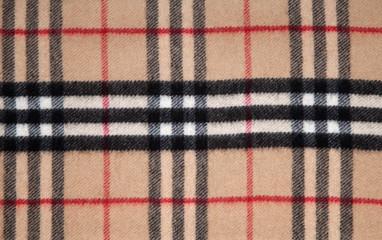 Tartan fabric.