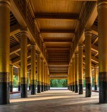 Salle d'audience à Mandalay Palais Royal, le Myanmar