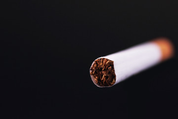 cigarette on a black background