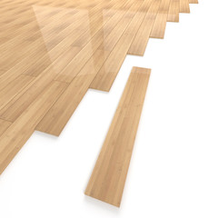 Bamboo wood flooring tiles detail