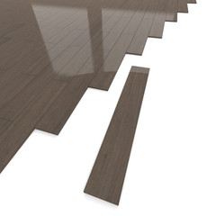 Mahogany wood flooring tiles detail