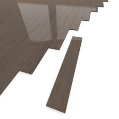 Mahogany wood flooring tiles detail