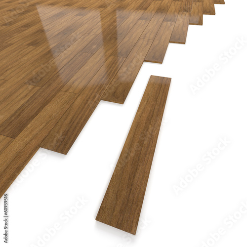 Dark brown wooden flooring tiles detailing